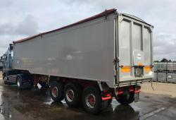 SALE OR HIRE OF 2011 WILCOX 65cu yd TASCC PLANK SIDER TIPPING TRAILER, OCT MOT