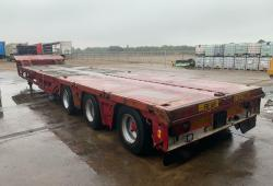 NOOTEBOOM MC0-48-03 STGO LOWLOADER TRAILER, ALL AXLE STEER, COMBINE WELLS