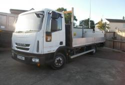 2013 (13) IVECO EUROCARGO ML75E18 EEV DROPSIDE FLATBED TRUCK, TAILLIFT, 4/20 MOT