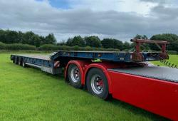 SALE OR HIRE OF 2000 DENNISON LOW LOADER TRAILER, FEB '20 MOT, RAMPS, OUTRIGGERS