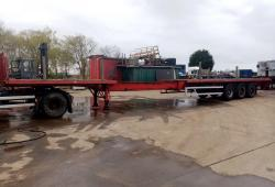 SALE OR HIRE OF 2003 DENNISON EXTENDER POST & SOCKET FLAT TRAILER, DEC '20 MOT