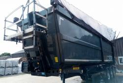 SALE OR HIRE OF 2014 SCHMITZ 72yd STEEL SCRAP TIPPING TRAILER, 9/20 MOT, WEIGHER