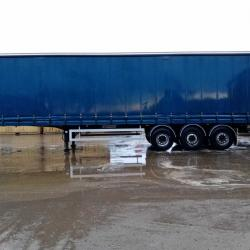 2003 FRUEHAUF 4.36m TRI AXLE CURTAINSIDER TRAILER, JAN '22 MOT, VGC