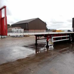 SALE OR HIRE OF 2007 M&G TRI AXLE FLAT TRAILER, 13.6m / 45ft LENGTH, VGC