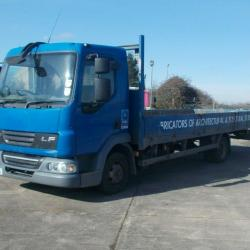 2007 (07) DAF LF 7.5 TON 4x2 22ft DROPSIDE FLATBED SCAFFOLD TRUCK MANUAL GEARBOX