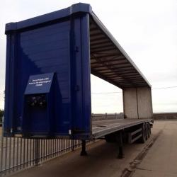 SALE OR HIRE OF 2006 SCHMITZ 4.30m TRI AXLE CURTAINSIDER TRAILER, VGC