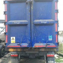 CHOICE OF TWO 2017 STAS (LUCK) 70cu yd STEEL BODY SCRAP TIPPER TRAILERS, MOT'S