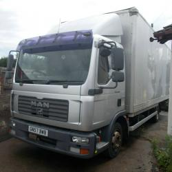 2007 (57) MAN 8.180 4x2 7.5 TON BOX LORRY, 4 CYLINDER ENGINE, MANUAL GEARBOX
