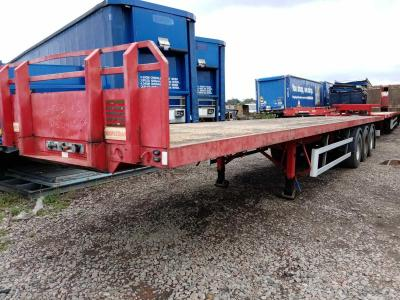 SALE OR HIRE OF 2005 MONTRACON PSK FLAT TRAILER, DEC '20 MOT, TWELVE TWIST LOCKS